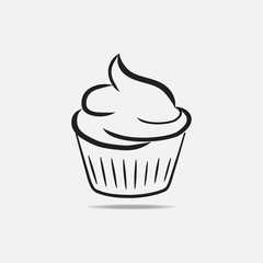 cupcake isolated white background-02