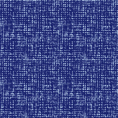 Vector blue indigo seamless fabric texture. Canvas for embroidery. Smaller file size. Suitable for textile, gift wrap and wallpaper.
