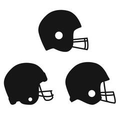 football helmet icon on white background. flat style. football helmet sport icon for your web site design, logo, app, UI. american football helmet symbol. football bow sign.