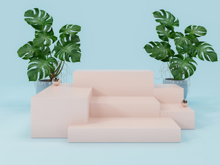 Pink Product display podium ,abstract  background