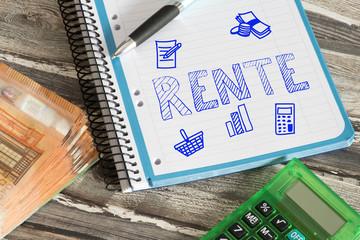 Rente, Taschenrechner und die Rente