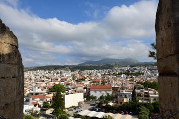 Blick auf Rethymno von der Fortezza auf Kreta in Griechenland
