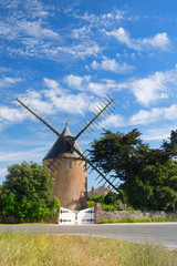Old windmill on French island