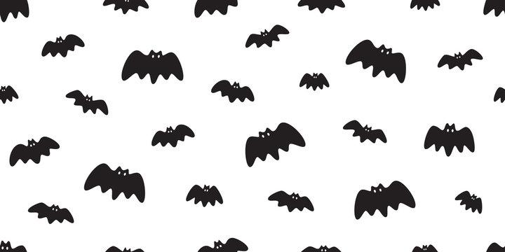bat seamless pattern vector Halloween dracula Vampire ghost cartoon illustration gift wrap white design