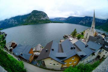 hallstatt, austria, view to the lake hallstätter see