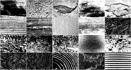 Set of Grunge Design Elements. Black and White Noise. Overlay Grainy Texture. Vector Illustration, EPS 10. Wall mural