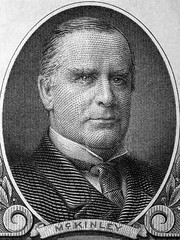 William McKinley a portrait from old American dollars