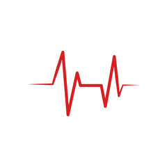 Heartbeat Cardiogram Icon Vector Logo Template