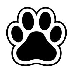 Animal paw print dog cat vector icon