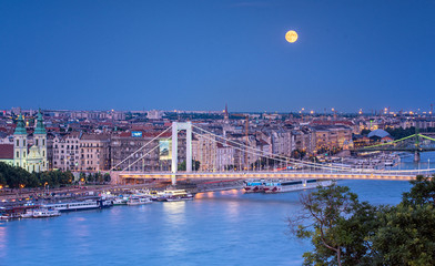 Night view on Budapest, Hungary in summer