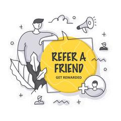 Refer a Friend Concept