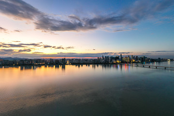 panoramic city skyline in hangzhou china Fototapete