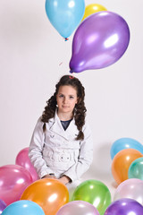 Balloon Party Girl in studio