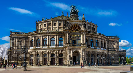 Semperoper is the operatic scene of the Saxon State Opera Dresden. It is located on the Theaterplatz in the historic center of the Saxon metropolis and bears the name of its architect Gottfried Semper