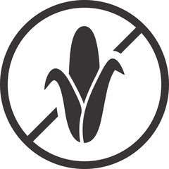 Corn Free Symbol for Food Packaging Label