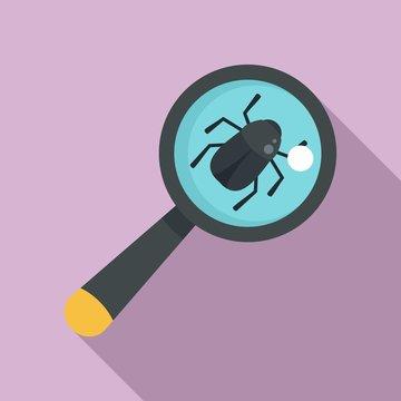 Virus bug icon. Flat illustration of virus bug vector icon for web design
