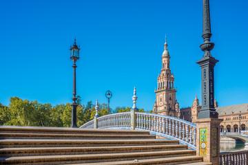 Plaza de Espana square in Seville, Spain.