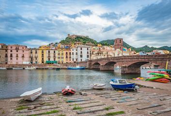 Bosa, colourful town in Sardinia, Italy.