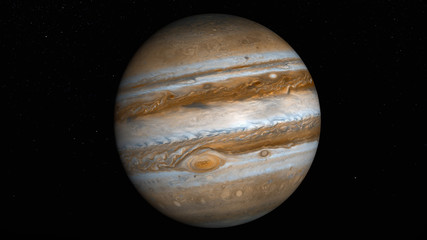 the planet jupiter (3d rendering,8k.This image elements furnished by NASA)