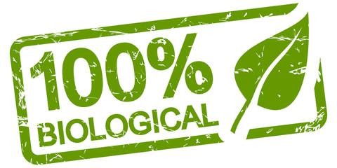 green stamp 100% BIOLOGICAL