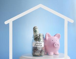 Piggy bank coin jar Home Equity