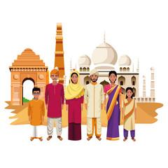 indian family india cartoon