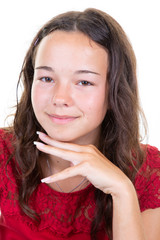 beautiful happy smiling teen girl portrait
