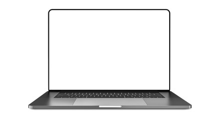 Laptop template isolated on white. Mockup.	 Wall mural