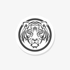 Tiger's head silhouette. Logo, emblem template