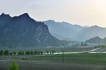 North Korea countryside landscape