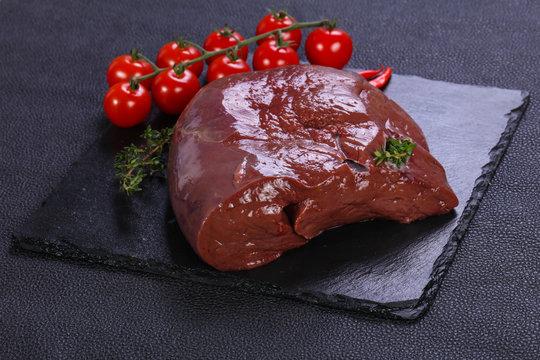 Raw pork liver
