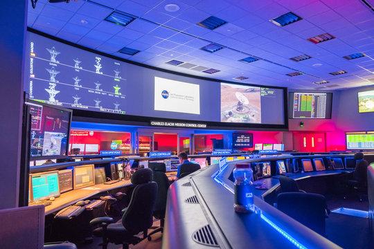 June 10, 2018 La Canada Flintridge / CA / USA -  Inside view of the Mission control center at the Jet Propulsion Laboratory (JPL)