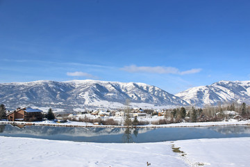 Wasatch Front mountains, Utah, in winter