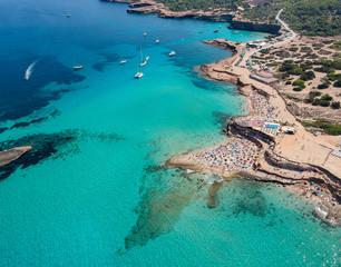 Obraz Ibiza beaches. Ibiza summer. Cala Conta Beach, Ibiza. Spain. - fototapety do salonu