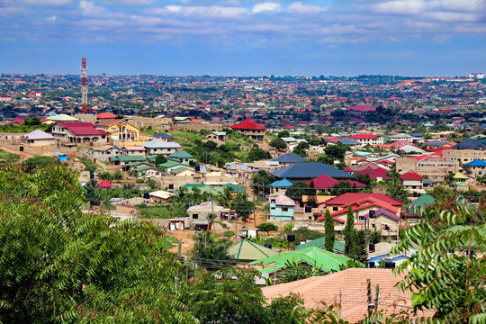 view over Accra, Ghana