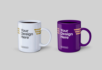 Mugs with Coffee Mockup