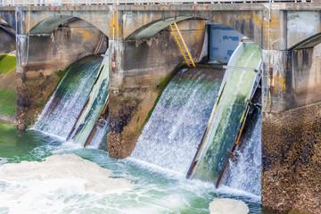 Open Sluice Gates in Ballard Locks