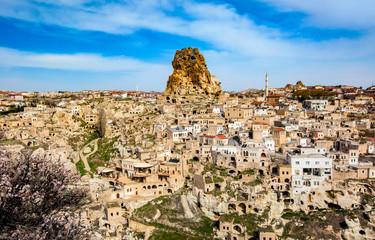 Mountains of Cappadocia in spring