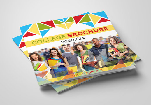 Corporate Brochure Layout with Bright, Colorful Accents