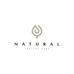 floral logo design vector template