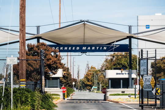 November 2, 2018 Sunnyvale / CA / USA - Entrance to the Lockheed Martin facilities locates in Silicon Valley; south San Francisco bay area