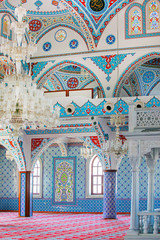 Interior view of  mosque in Turkey