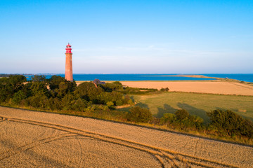 Lighthouse Fluegge as seen from above
