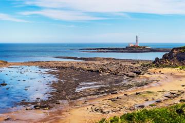 St. Marys island with lighthouse