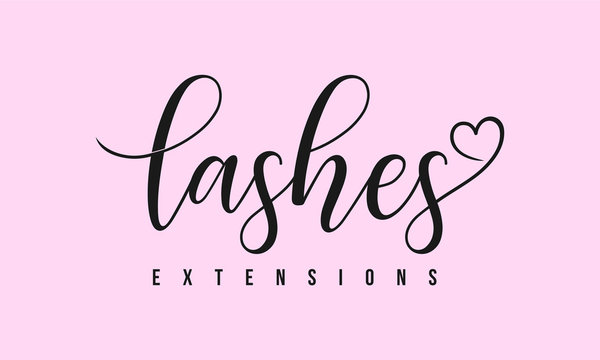 logo template for beauty companies, lashes extensions