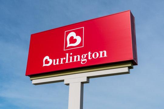 Burlington Coat Factory Retail Store Sign and Trademark Logo