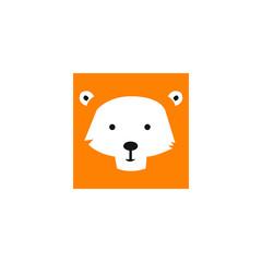 Cute Lion Face Emoticon Emoji Expression Illustration logo