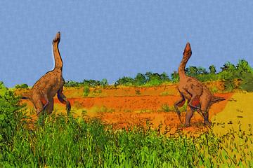 Dinosaur art illustration painting