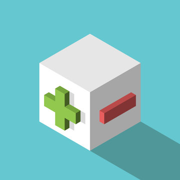 Isometric plus minus cube