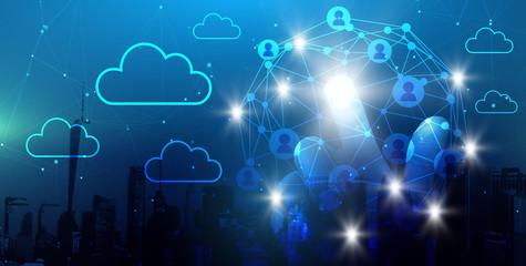 Netzwerk Cloud Konzept